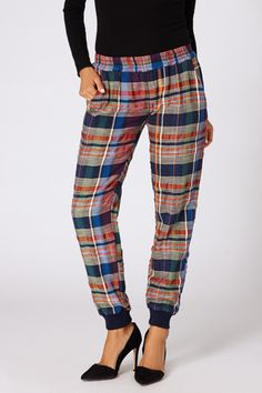 Cabin Plaid Sweatpant by Ace & Jig #artisanmade