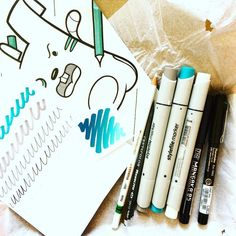 @scrawlrbox April box is here - here is what I got in this box: 3 @stylefile_marker markers in turquoise deep grey and nude 2 @kuretakejapan liners in black - different shapes 1 drawing pencil from @cretacolor 1 @stabilo watercolor pencil in white 2 pieces of marker paper inspirational artwork and the sweet treat...great box! Love it! #colors #art #art #artistic #artist #box #subscriptionbox #scrawlrbox #lovemywork #artsupplies #art #art #thehappynow #thatsdarling #pursuehappy #pursuepretty