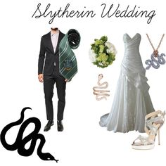 """""""Slytherin Wedding"""" by nearlysamantha on Polyvore"""