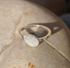 Sterling silver leaf ring £24.00