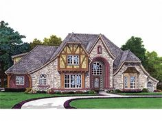 French Country Tudor House Plan