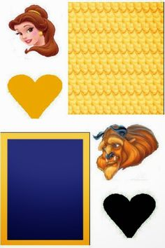 Beauty and the Beast: Free Printable Original Nuggets Wrappers.