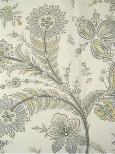 "Cottingham Opal.  Sarah Richardson Design Fabric by Kravet. 55% linen - 45% cotton retro floral print. Perfect for upholstery, pillow covers, top of the bed or drapery panels. 27"" repeat, 15,000 double rubs. 54"" wide. Made in U.S.A."