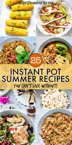 Get ready for summertime with these awesome instant pot summer recipes that are . - Get ready for summertime with these awesome instant pot summer recipes that are so time-saving, eas - Healthy Summer Recipes, Lunch Recipes, Cooking Recipes, Slow Cooking, Slow Cooker Summer Recipes, Recipes Dinner, Crockpot Summer Meals, Kitchen Recipes, Easy Recipes