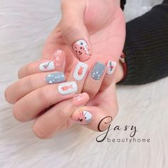 Short Nails, Nails Inspiration, Korea, Nail Art, Nail Hacks, Nail Arts, Nail Art Designs, Korean