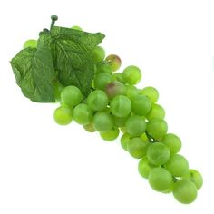 Gresorth Approximate 85pcs Lifelike Artificial Big Green Grapes Cluster Faux Fake Fruit Christmas Party Decoration -- Check out this great product.