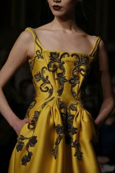 Zac Posen, FW 2013 - influenced by 18th century dress