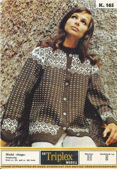 Hege k 165 Fair Isle Knitting, Yarn Crafts, Color Combinations, Scandinavian, Knitting Patterns, Retro, Chic, Crochet, Lace