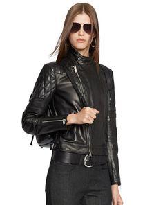 Lambskin Circuit Biker Jacket - Black Label  Jackets - RalphLauren.com