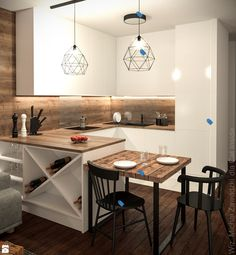 There is no question that designing a new kitchen layout for a large kitchen is much easier than for a small kitchen. A large kitchen provides a designer with adequate space to incorporate many convenient kitchen accessories such as wall ovens, raised. Apartment Kitchen, Home Decor Kitchen, Kitchen Living, Kitchen Furniture, New Kitchen, Home Kitchens, Kitchen Ideas, Office Furniture, Ugly Kitchen