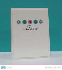 Stamp Of The Week - Stunning Snowflakes - Uniko Cardmaking And Papercraft, Wink Of Stella, Masculine Cards, My Stamp, Rustic Christmas, Xmas Cards, Before Christmas, Clear Stamps