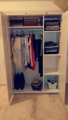 Dombas Wardrobe, Ikea Brimnes Wardrobe, Wardrobe Closet, Master Bedroom Redo, Dream Bedroom, Girls Bedroom, Bedroom Decor, Arranging Bedroom Furniture, Furniture Arrangement