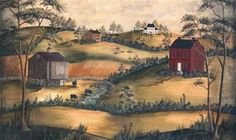 1000 images about primitive wall murals on pinterest for Colonial mural wallpaper