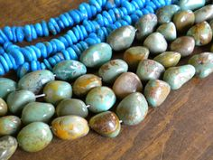Green Campo Frio Turquoise Full Strand of by gasanovaartconnect, $42.00