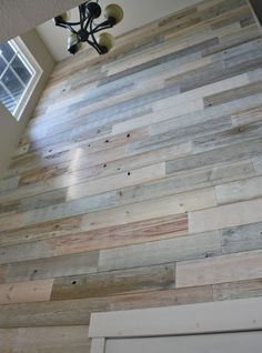 Coastal White Timberchic a thin peel and stick real wood interior design solution. - August 03 2019 at Coastal Bedrooms, Coastal Living Rooms, Trendy Bedroom, White Interior Design, Contemporary Interior Design, Coastal Style, Coastal Decor, Peel And Stick Wood, Plank Walls