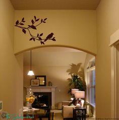 Bird on a Branch Vinyl Wall Art - Vinyl Lettering - Wall Decor - Home Decor…