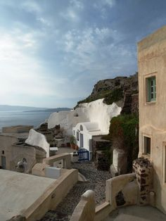 Traditional house at Oia village,Santorini ,Greece