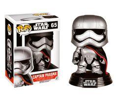 Cabezón Capitán Phasma, 10cm. Star Wars Episodio VII. Funko POP Estupendo cabezón basado en la nueva película de Star Wars: El Despertar de la Fuerza, con el personaje Capitán Phasma, de 10cm.
