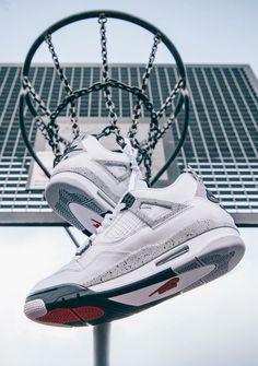 "Air Jordan 4 ""White Cement"" Shot by Runnerwally. Air Jordan Iv, Air Jordan Sneakers, Nike Air Jordans, Jordan Nike, Sneakers Wallpaper, Nike Wallpaper, Jordan Shoes Wallpaper, Jordan Shoes Girls, Girls Shoes"