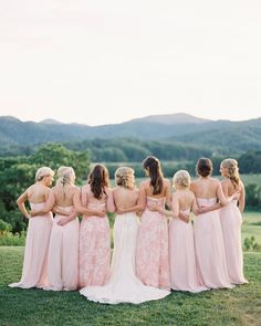 Blush bridesmaids dresses - mix-and-match bridesmaid dresses {Michael & Carina Photography} Blush bridesmaids dresses - mix-and-match bridesmaid dresses {Michael & Carina Photography} Amsale Bridesmaid, Blush Bridesmaid Dresses, Pink Bridesmaids, Cold Wedding, Dream Wedding, Spring Wedding, Pippin Hill Wedding, Carina, Groom And Groomsmen Attire