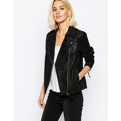 Dr Denim Suede Biker Jacket