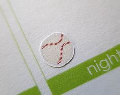60 Baseball Stickers   Planner Stickers  Erin by PaperLovingMommy