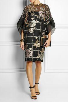 Biyan | Lucy embroidered organza dress | NET-A-PORTER.COM