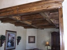 Ceiling treatment in knotty Alder #richinscarpentry coupons on www.godavis.biz