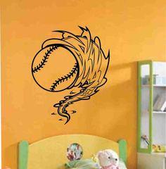 Baseball Cyclone  Vinyl Decal Sticker Wall Art by Decals4YourWalls, $18.00