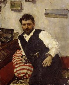Portrait of K.A.Korovin by Valentin Aleksandrovich Serov, 1891. The State Tretyakov Gallery, Public Domain