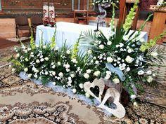 Visit the post for more. Altar Flowers, Church Flower Arrangements, Floral Arrangements, Wedding Flowers, Wedding Decorations, Table Decorations, Roman Catholic, Creative Home, Outdoor Decor