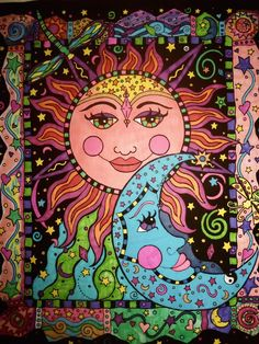 sun and moon ~ ha! I have this poster at home that I colored and is hanging on my wall