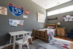 A planes, trains and automobiles nursery. My son absolutely loves trains so I decided to give him a trains, planes and automobiles theme. Baby Room Art, Baby Boy Rooms, Toddler And Baby Room, Toddler Bed, Baby Room Curtains, Baby Room Design, Room Paint Colors, Rustic Baby, Project Nursery