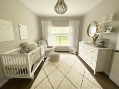 Baby Room Neutral, Baby Nursery Neutral, Neutral Baby Bedding, Baby Room Grey, Gender Neutral Nurseries, Ikea Baby Nursery, Grey Nursery Boy, Grey Crib, Twin Nurseries
