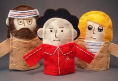 Felt finger puppets from the film The Royal Tenenbaums by etsy seller Abbey Christine. Holiday Gift Guide, Holiday Gifts, Felt Finger Puppets, Hand Puppets, The Royal Tenenbaums, Imaginative Play, Kids Toys, Etsy Seller, Teddy Bear