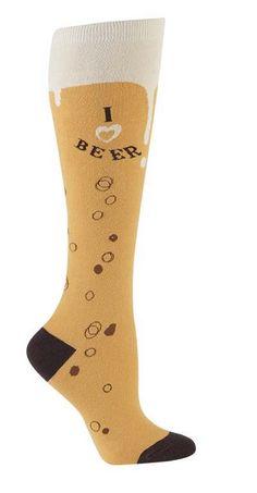 Sock it to Me I Love Beer Women's Knee Socks