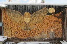 Wood Pile Art .......think in every medium