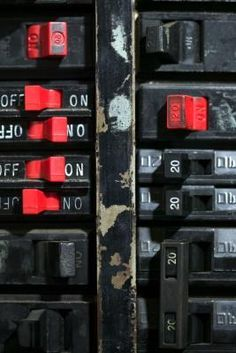 The circuit breakers in the electrical panel in your house are safety devices. Each one is designed to disconnect power when the current passing through the circuit exceeds its rating. This prevents . Home Electrical Wiring, Electrical Code, Electrical Projects, Electrical Outlets, Electrical Engineering, Outdoor Electrical Outlet, Electrical Inspection, Electrical Installation, Rewiring A House
