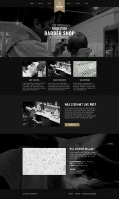 Webdesign / Website Barber-Shop | HosonoDesign