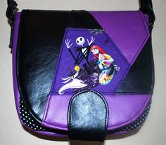 Jack Skellington Nightmare Before Christmas Patchwork Sandra Saddlebag