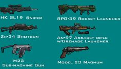 Pixel-Art Gun Montage by PrinzEugn on DeviantArt