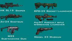 Pixel-Art Gun Montage by PrinzEugn on DeviantArt