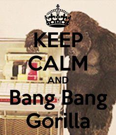 Hahahahaha love that song. Gorillas by Bruno mars