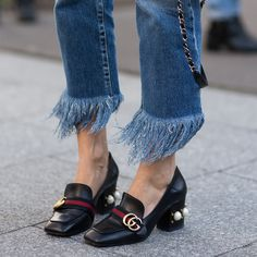 Add a playful touch to your denim with handmade @3x1 jeans. Think: modern distressing and signature fringed hems.