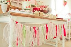Love this ribbon banner! #ribbonbanner #party #ideas #decor #supplies