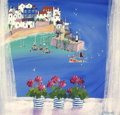 Sue McDonald - Summer Window, St Ives Art work