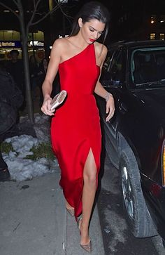 Kendall Jenner.: Little Red Dresses, dress, clothe, women's fashion, outfit inspiration, pretty clothes, shoes, bags and accessories