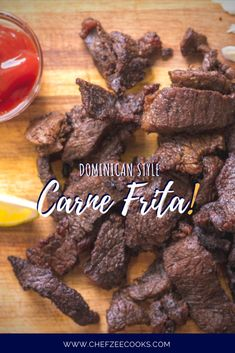 Carne Frita Dominicana is a classic Dominican Street Food Recipe! This fried crispy beef is easy to make and super delicious. It pairs great with Tostones, White Rice and more! This is the perfect game night finger food! Cuban Recipes, Meat Recipes, Healthy Dinner Recipes, Cooking Recipes, Spanish Recipes, Dutch Recipes, Cafe Dominicano, Fried Beef, Crispy Beef