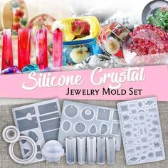 Diy Resin Crafts, Jewelry Crafts, Diy And Crafts, Diy Resin Crystals, Uv Resin, Crystal Resin, Kit Diy, Design Your Own Jewelry, Diy Schmuck