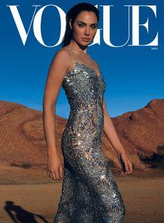 Gal Gadot wears a Louis Vuitton dress - Photographed by Annie Leibovitz, Vogue, May Photos Des Stars, Gal Gardot, Louis Vuitton Dress, Magazine Vogue, Donald Trump, Gal Gadot Wonder Woman, Annie Leibovitz, Vogue Us, Vogue Covers